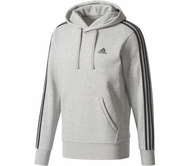 Adidas - Essential 3 Stripes men's training hoodie (grey)