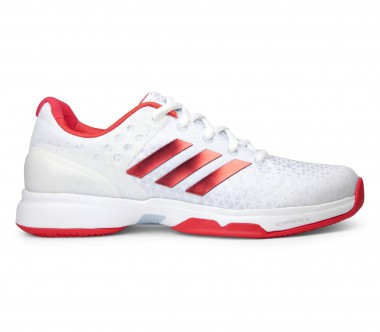 Adidas - Adizero Ubersonic 2 women's tennis shoes (white/red)