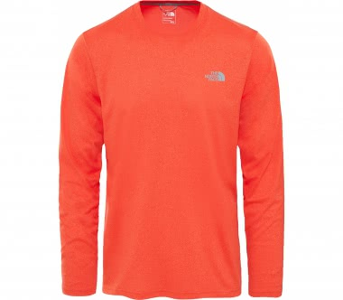 The North Face - Reaxion Amp long-sleeved Crew men's training top (orange)
