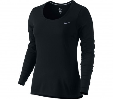 Nike - Dri-Fit Contour long-sleeved women's running top (black)