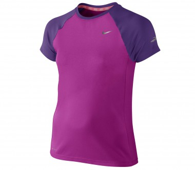 Nike - Miller Shortsleeve Crew children's running top (violet/lilac)