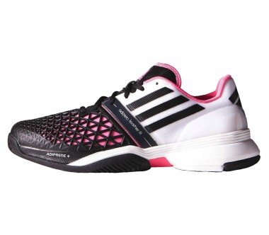 Adidas - Roland Garros Adizero Feather III Allcourt men's tennis shoes (white/pink)