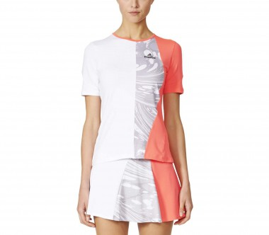 Adidas - Stella McCartney Barricade women's tennis top (white/red)