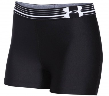 Under Armour - Heatgear Armour Compression women's training shorts (black/silver)