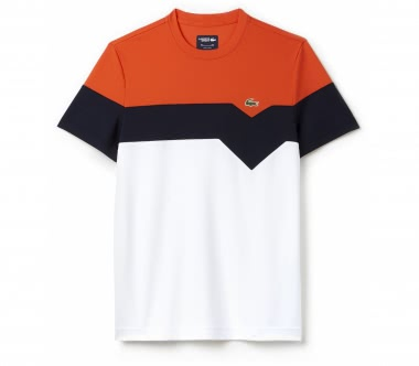Lacoste - Tee men's tennis top (white/red)