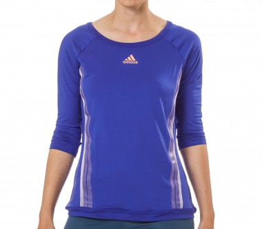 Adidas - Adizero 3/4 long-sleeved women's tennis top (blue)