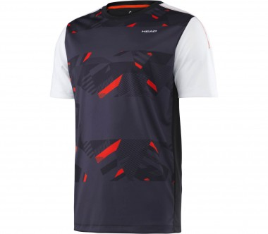Head - Vision Cypher men's tennis top (black/red)