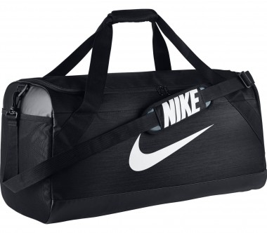 Nike - Brasilia Large men's training duffel bag bag (black/silver)