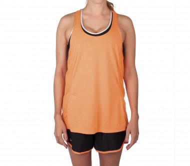Under Armour - Fly-By Stretch Mesh women's running tank top (orange)