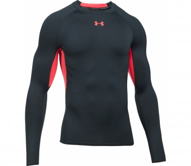 Under Armour - Heatgear Armour men's training longsleeve top (anthracite/red)