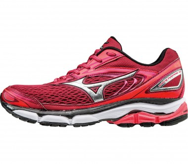Mizuno - Wave Inspire 13 women's running shoes (dark red/silver)