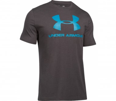 Under Armour - Charged Cotton Sportstyle Logo Herren Trainingsshirt (grau)