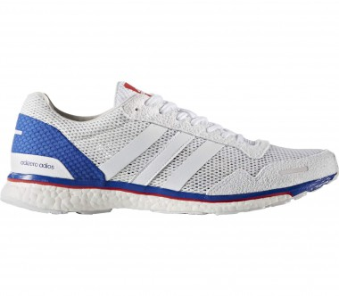 Adidas - Adizero Adios 3 Aktiv men's running shoes (white/blue)