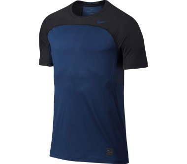 Nike - Pro Hypercool Shortsleeve men's training top (black/blue)