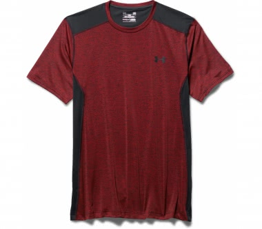 Under Armour - Raid Shortsleeve Herren Trainingsshirt (schwarz/rot)
