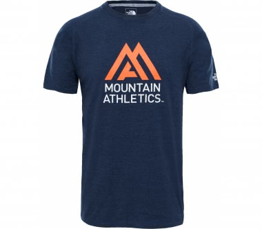 The North Face - Wicker Graphic Crew men's training top (light blue/orange)