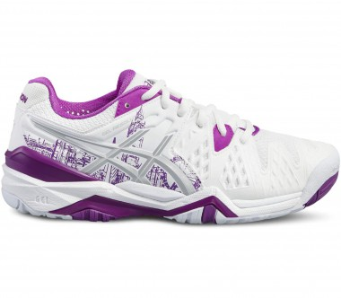 Asics - Gel-Resolution 6 Limited Edition London women's tennis shoes (white/purple)