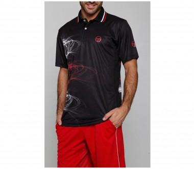 Sergio Tacchini - Djokovic Biceps Polo Australian Open black - SS12 - Tennis - Tennis Cloth - Men