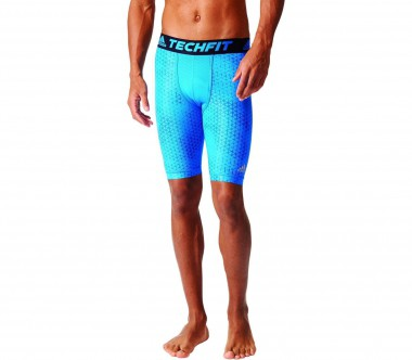 Adidas - Techfit Chill Graphic Tight9 men's training shorts (blue/black)
