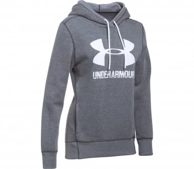 Under Armour - Favorite fleece women's fleece hoodie (grey/white)