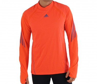 Adidas - running top Adizero Wind Proof L/S Tee red/blue - HW12