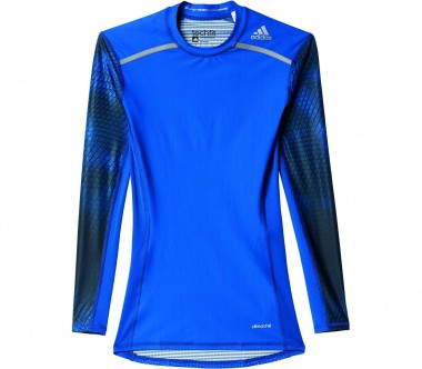 Adidas - Techfit Chill long-sleeved men's training top (dark blue)