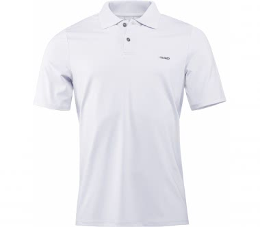 Head - Performance plain men's tennis polo top (white)