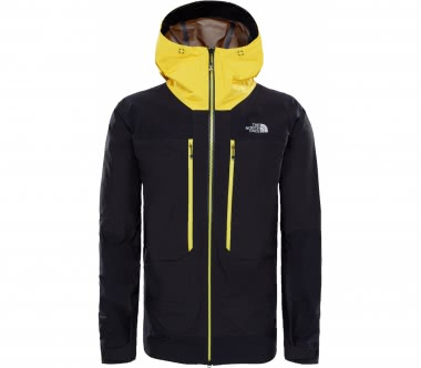 The North Face - Summit L5 GTX Pro men's hard shell jacket (black/yellow)