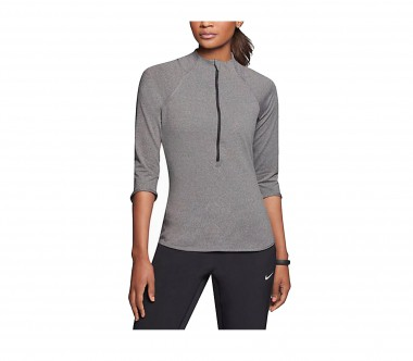 Nike - t-top women's Baseline 1/2 ZIP (grey)