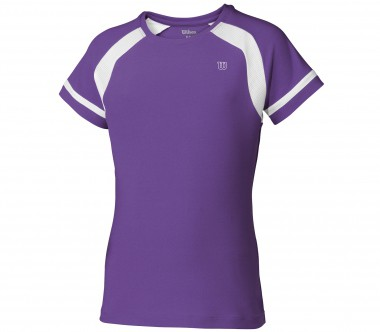 Wilson - Junior Short Sleeve Crew lavender - Tennis - Tennis Cloth - kids