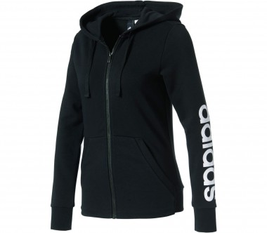 Adidas - Essentials Linear Full-Zip women's training hoodie (black/white)