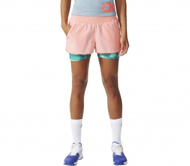 Adidas - Club women's tennis shorts (coral/tüturquoise)