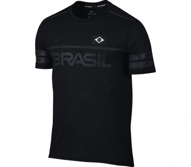Nike - Dry Team Brazil men's running top (black)