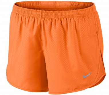 Nike - Modern Embossed Tempo women's running shorts (orange)