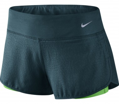 Nike - 3 Inch Rival Jacquard 2-in-1 women's running shorts (dark green)