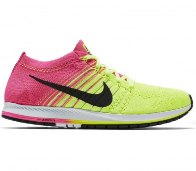 Nike - Air Zoom Flyknit Streak 6 men's running shoes (yellow/pink)