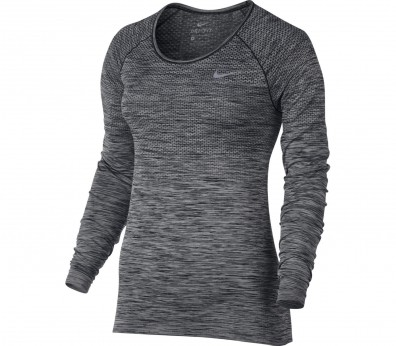 Nike - Dri-Fit Knit long-sleeved women's running top (black)