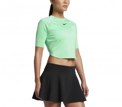 Nike - Court Shortsleeve women's tennis top (green/black)