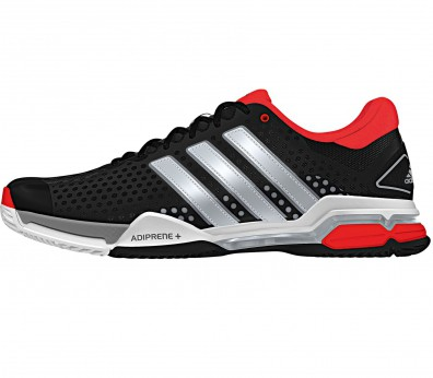 Adidas - Barricade Team 4 Synthetic Allcourt men's tennis shoes (black/red)