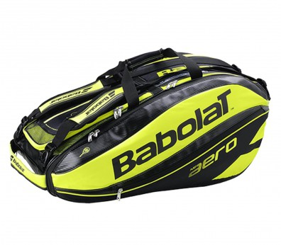 Babolat - Racket Holder x 12 Pure Aero tennis bag (black/yellow) - OS - OS