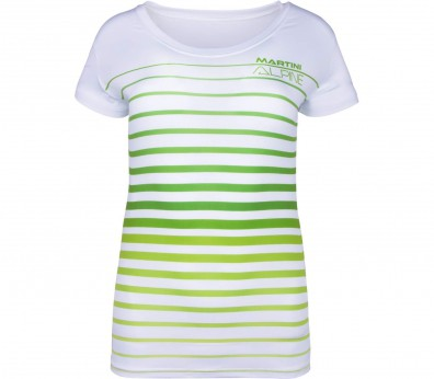Martini - Response women's functional top (white/green)