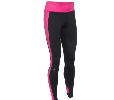 Under Armour - Armour Coldgear Stripe Inset Tight Damen Trainingshose (pink/schwarz)