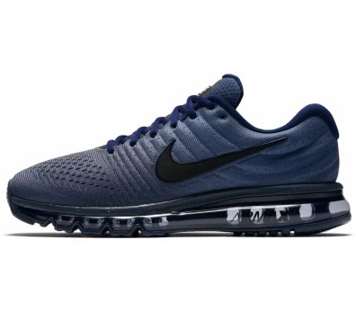 Nike - Air Max 2017 men's running shoes (black/blue)
