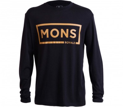 Mons Royale - Original Longsleeve men's merino top (black/gold)