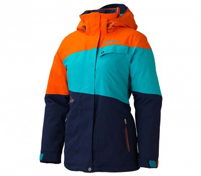 Marmot - Moonshot women's ski jacket (blue/orange)