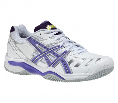 Asics - Gel-Challenger 9 Clay womens' tennis shoes (white/blue)