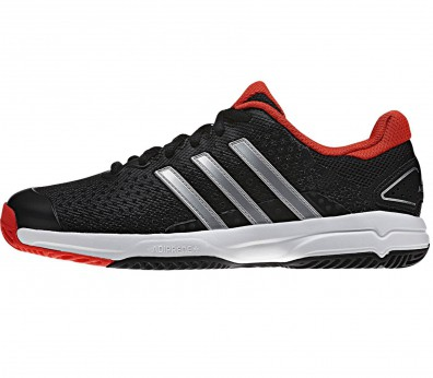 Adidas - Barricade Team 4 Junior tennis shoes (black/red)