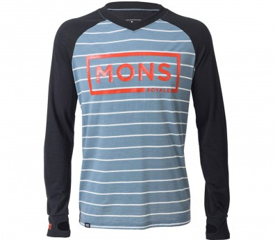 Mons Royale - Redwood V long-sleeved men's merino top (black/grey)