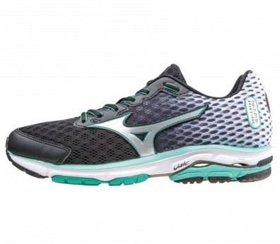 Mizuno - Wave Rider 18 women's running shoe (black/ mint)