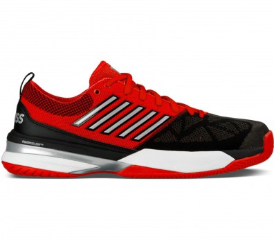 K-Swiss - Knitshot men's tennis shoes (red/black)